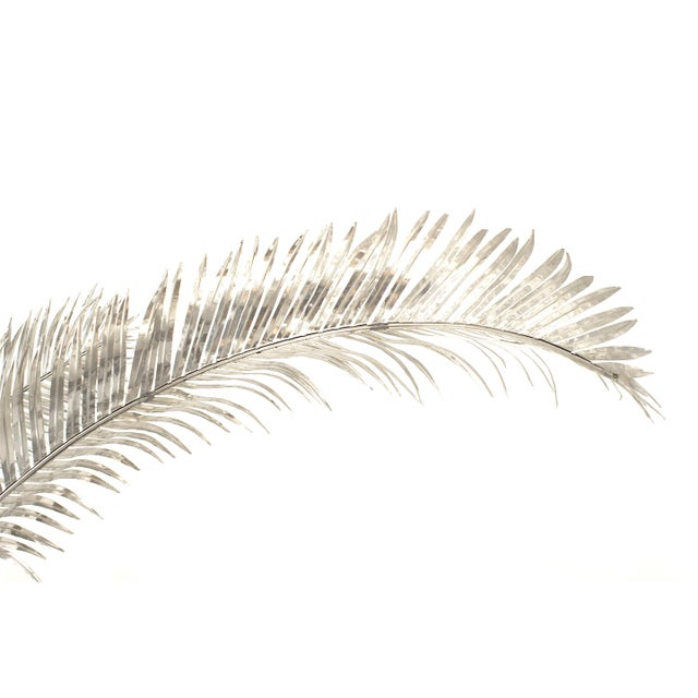 Arthur Court Aluminum Palm Trees by Arthur Court - a Pair For Sale - Image 4 of 8