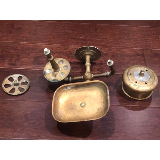 Vintage Brass Bathroom Wall Fixture For Sale - Image 12 of 12