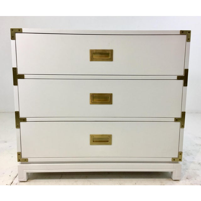Ave Home Modern White Carlyle Campaign Chest of Drawers For Sale In Atlanta - Image 6 of 6