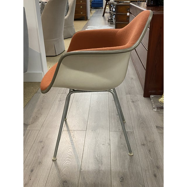 Vintage Herman Miller Chairs Upholstered Fiberglass Chairs Signed For Sale In New York - Image 6 of 10