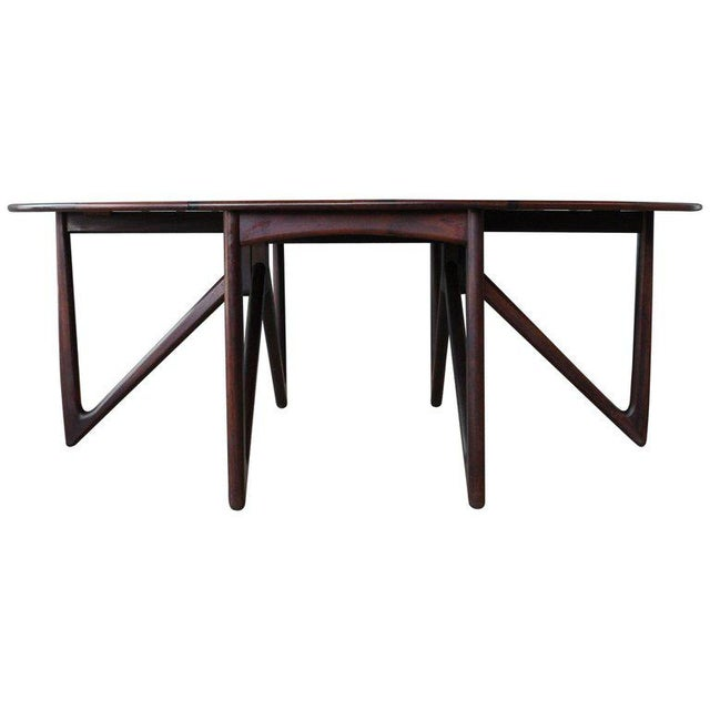Mid Century Niels Koefoed Rosewood Gate Leg Dining Table, Denmark, 1960s For Sale - Image 12 of 12