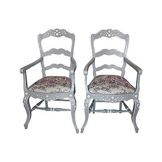French Country Armchairs - A Pair For Sale