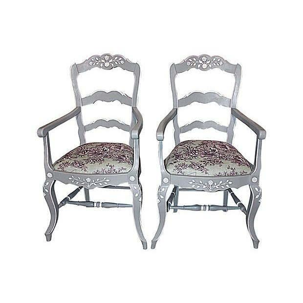 French Country Armchairs - A Pair - Image 1 of 7