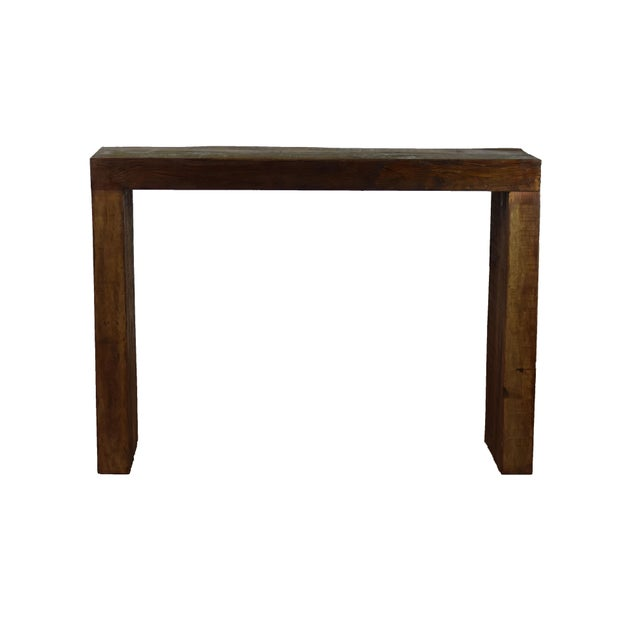 Reclaimed Peroba Wood Handmade Eco-Friendly Bar Table For Sale - Image 4 of 4