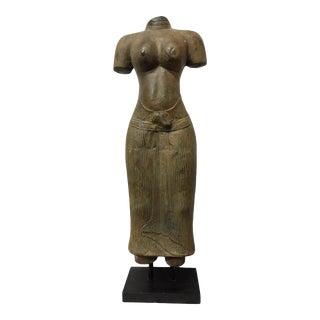 Mid 20th Century Southeast Asian Hindu Parvati Goddess Headless Metal Sculpture For Sale