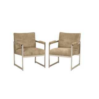 Milo Baughman for Thayer Coggin Square Chairs - a pair For Sale