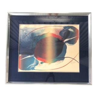 Poul Jenkins 1970 Pencil Signed Lithograph For Sale