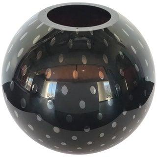 Italian Pulegoso Black Murano Glass Vase by Alberto Dona For Sale