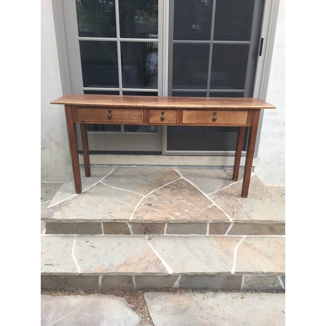 Antique Three-Drawer Console Table - Image 3 of 11