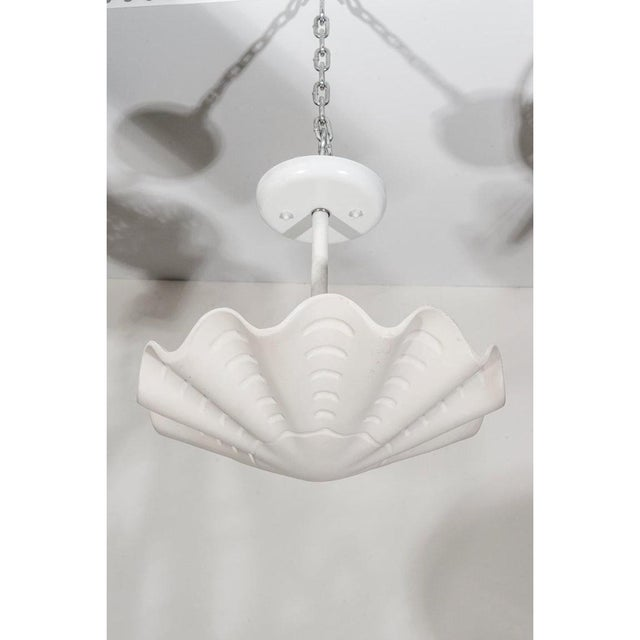 "Resin Vintage Sirmos ""Sand Dollar"" Shell Form Chandelier For Sale - Image 7 of 11"