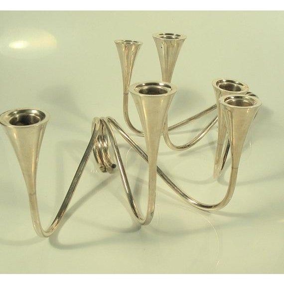 1960s Vintage K. Uyeda Sterling Silver Candle Sticks - a Pair For Sale - Image 4 of 8