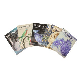 Sotheby's Auction Catalogues - Set of 6 on Chinese, Japanese Porcelain and Works of Art For Sale