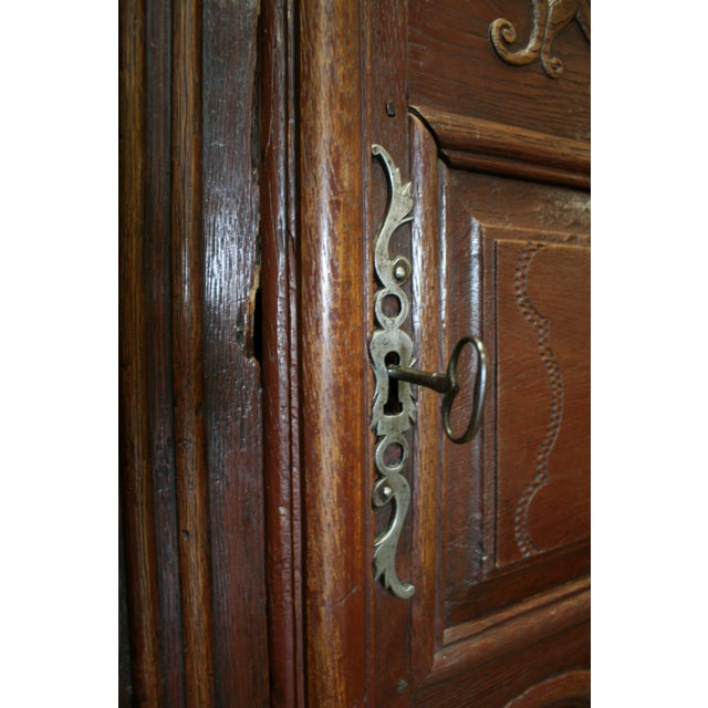 English Hand Carved Armoire For Sale - Image 9 of 9