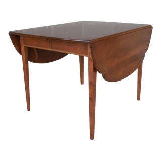 L. Hitchcock Cloverleaf Harvest Dining Extension Table For Sale