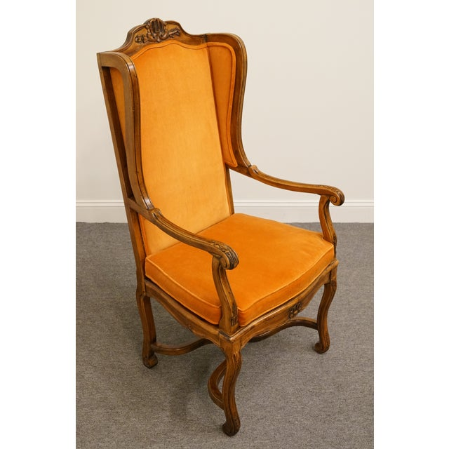 Hekman Furniture Hekman Furniture Rustic Country Cane Seat Armchair For Sale - Image 4 of 10
