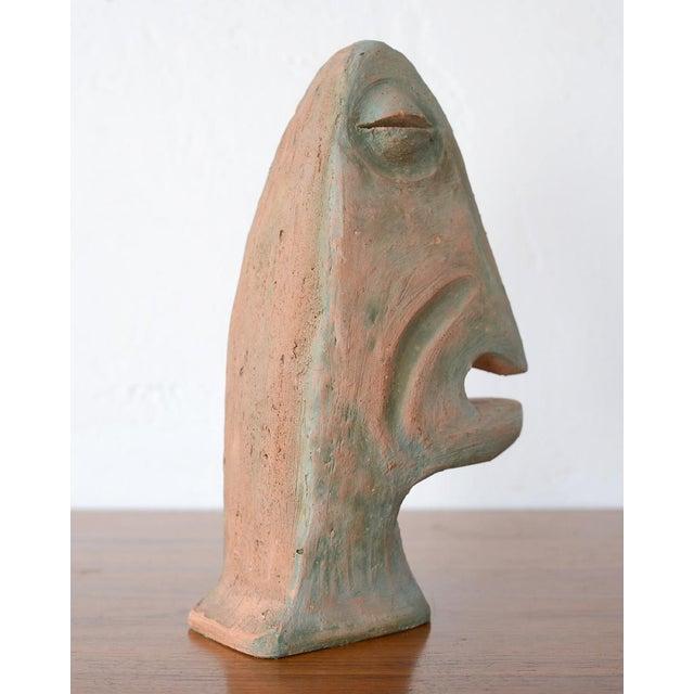 Mid-Century Modern Vintage Mid-Century Modernist Primitive Man Bust Sculpture For Sale - Image 3 of 9