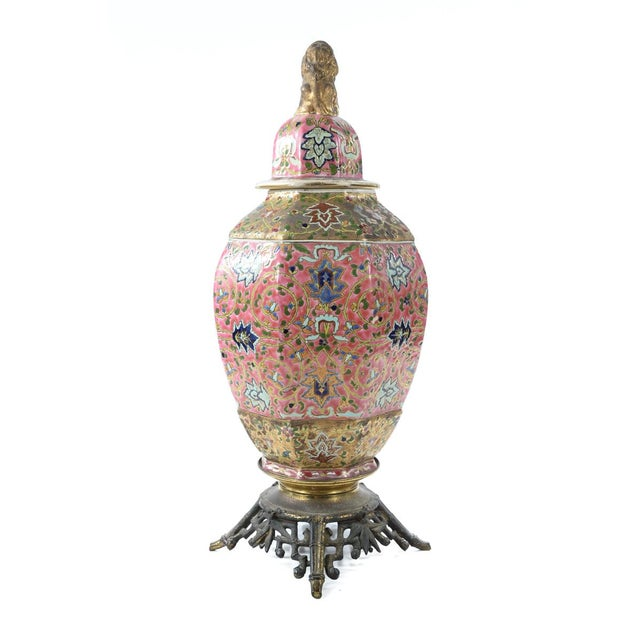 Chinese 19th Century Famille Pink Porcelain Urn For Sale - Image 10 of 10