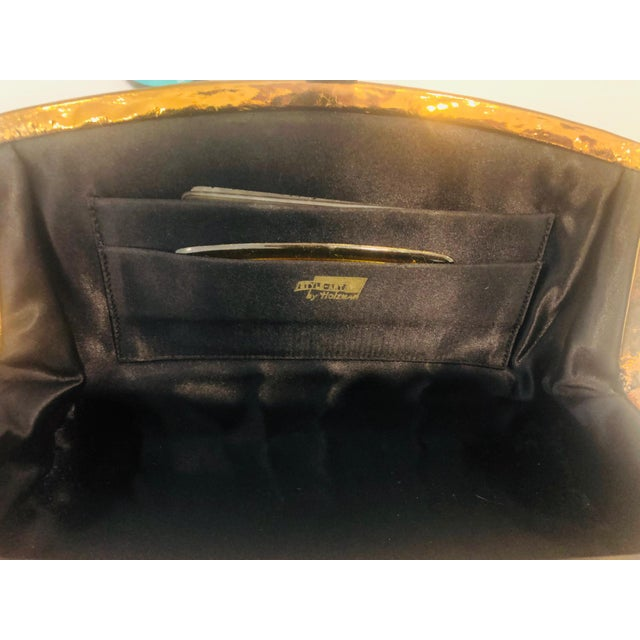 1960s Max Holzman Metallic Copper Leather Clutch For Sale - Image 10 of 11