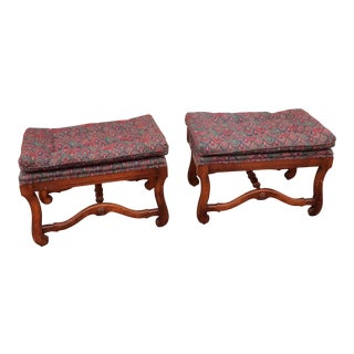 1940s Vintage Wooden Footstools - A Pair For Sale