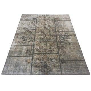 Printed Patchwork Carpet - 4'7 X 6'7 For Sale