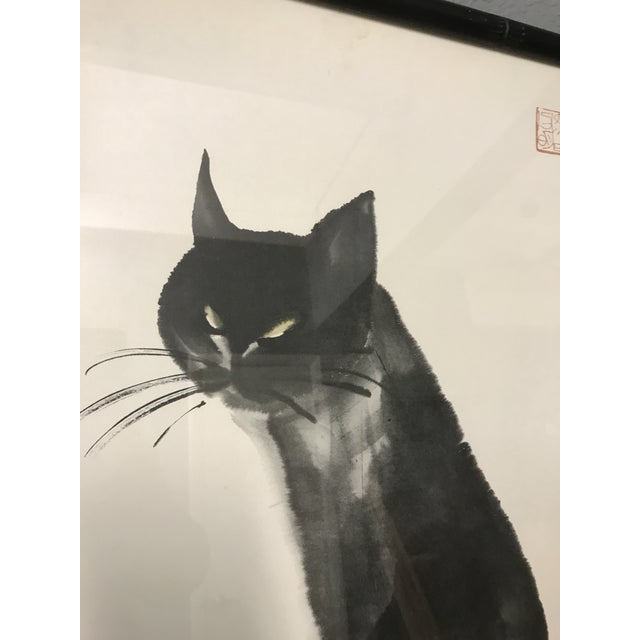 "Vintage Da Wei Kwo ""Kim the Cat"" Art For Sale - Image 4 of 10"