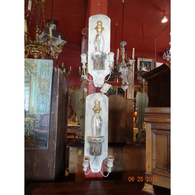 Pair Architectural Sconces For Sale In New Orleans - Image 6 of 9
