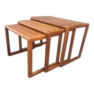 1960s Vintage Preben Schou Andersen Danish Nesting Tables - Set of 3 For Sale