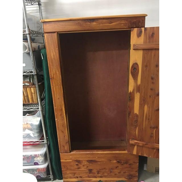 Vintage Cedar Armoire - Image 5 of 9