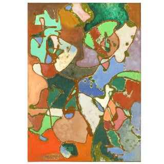 William H Littlefield (1902-1969) Abstract Mixed Media On Board For Sale