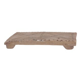 Vintage Indian Wooden Chapati Board For Sale