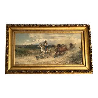 Original Orientalist Watercolor Painting by Enrico Henri Coleman (1846-1911) For Sale