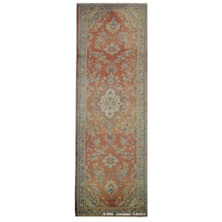"Vintage Persian Hamedan Runner Rug - 3'3"" x 13'1"" For Sale"