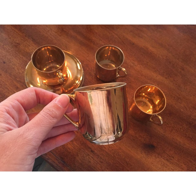 Copper Japanese Tea - Set of 4 For Sale - Image 4 of 5