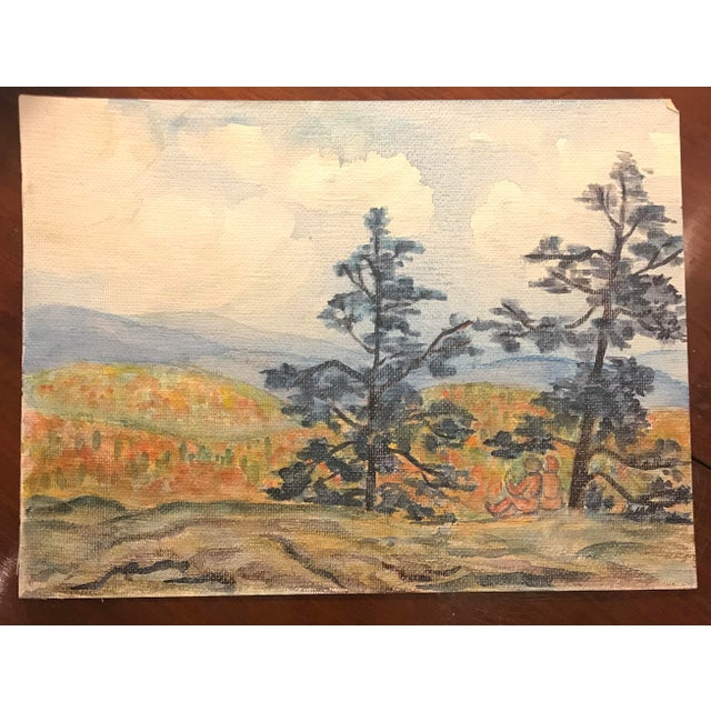 1930s Watercolor of Colorado Landscape by Mercedes Erixon For Sale - Image 4 of 4