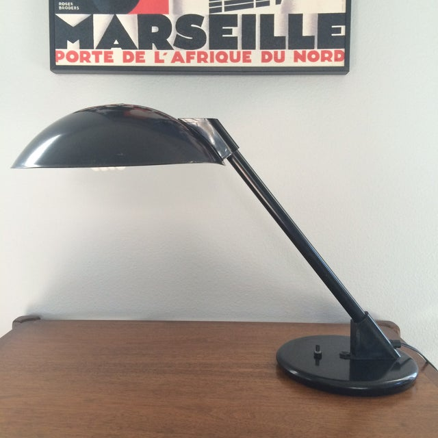 Vintage Black Metal Atomic Desk Lamp - Image 2 of 11