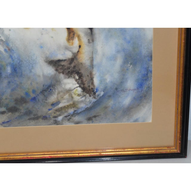 "Mabel Palmer (1903-1998) ""Up River"" Original Watercolor c.1960s For Sale - Image 4 of 9"