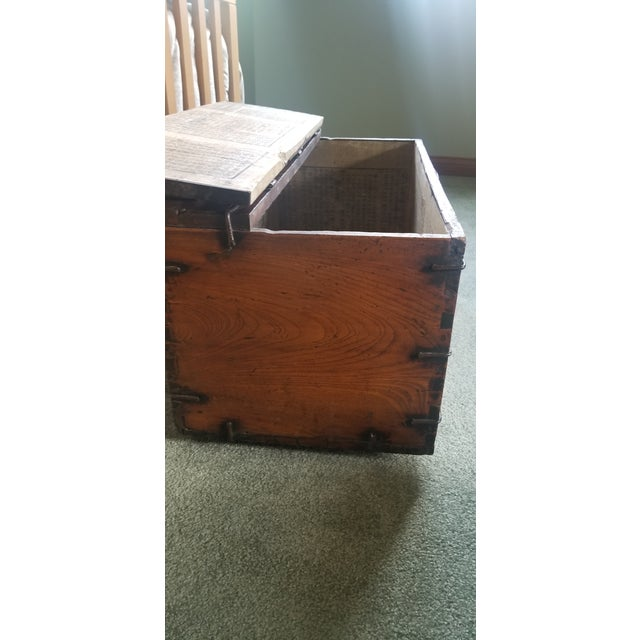 Authentic Korean Dowry Chest from the 19th Century. Imported from South Korea by current owner. Elegant design made of...