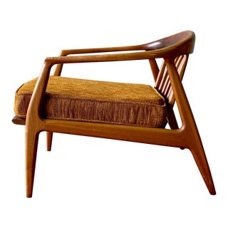 Teak Mid Century Modern Lounge Chair by Milo Baughman for Thayer Coggin For Sale