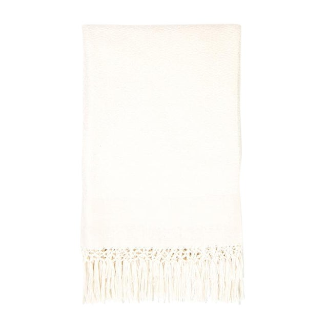 Ivory Handwoven Chiapas Throw - Image 1 of 5