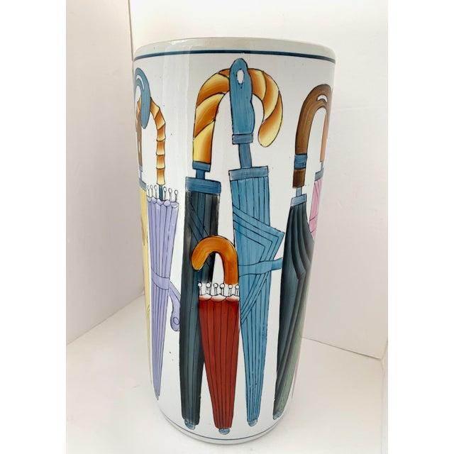 Vintage Ceramic Umbrella Stand For Sale In Miami - Image 6 of 9