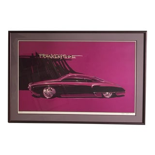 "Framed Limited Edition Customized Hot Rod ""Frankenstude"" Print by Thom Taylor For Sale"