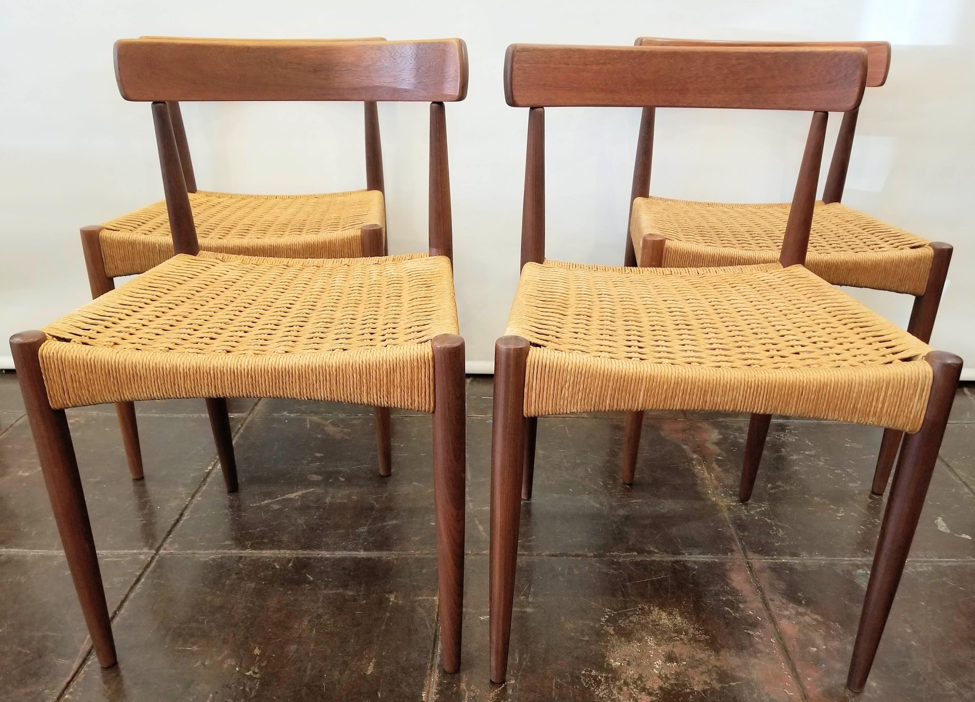 danish design dining chairs furniture 1950s vintage arne hovmand olsen for mogens kold danish modern dining chairs set of
