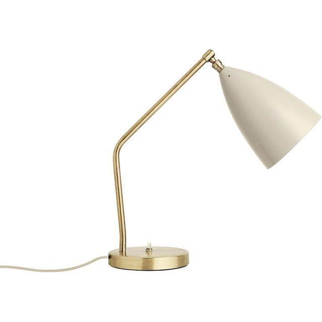 Greta Magnusson Grossman 'Grasshopper' Table Lamp in Light Gray For Sale - Image 10 of 11