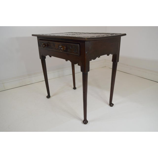 English 18th-Century Georgian Oak Table W/Drawer For Sale - Image 3 of 8
