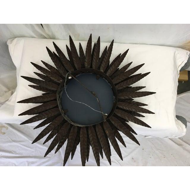 Italian Mid Century Sunburst Mirror - Image 4 of 6