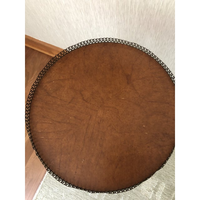 Mid 20th Century Traditional Wood Drink/Gueridon Tables - a Pair For Sale - Image 5 of 8