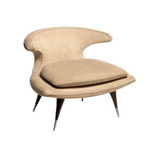 """1950s Modern Karpen of California """"Horn"""" Off-White Lounge Chair"""