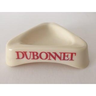 Vintage Mid Century Modern Dubonnet French Milk Glass Bistro Ashtray Preview