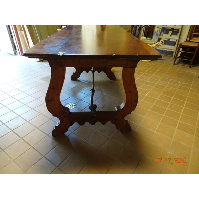 19th Century Spanish Walnut Dining Table For Sale - Image 12 of 13