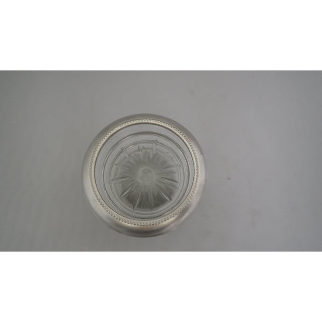Mid-Century Pewter & Glass Coasters - Set of 4 For Sale - Image 5 of 6
